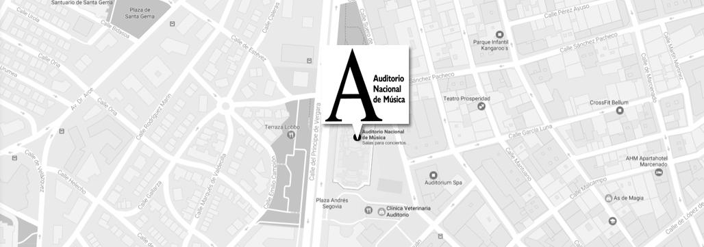 Plano de situación del Auditorio Nacional de Música